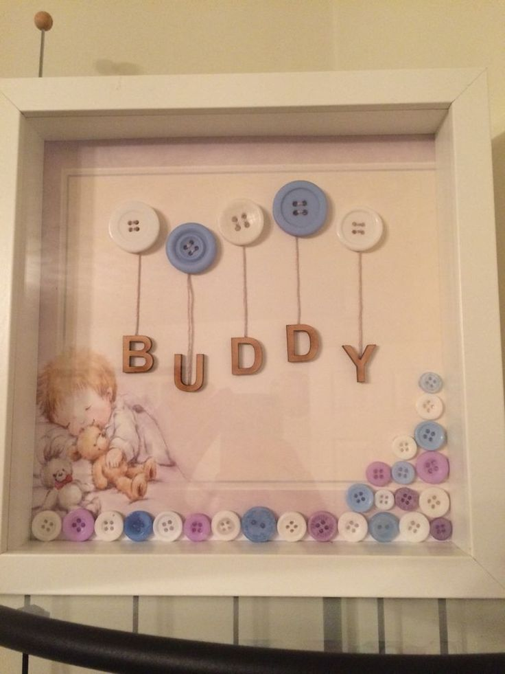 Personalised Button Art Frames