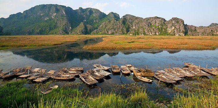 Ninh Binh - Van Long Nature Reserve. #ninhbinh #vanlong #reserve #boats #vietnam #travel