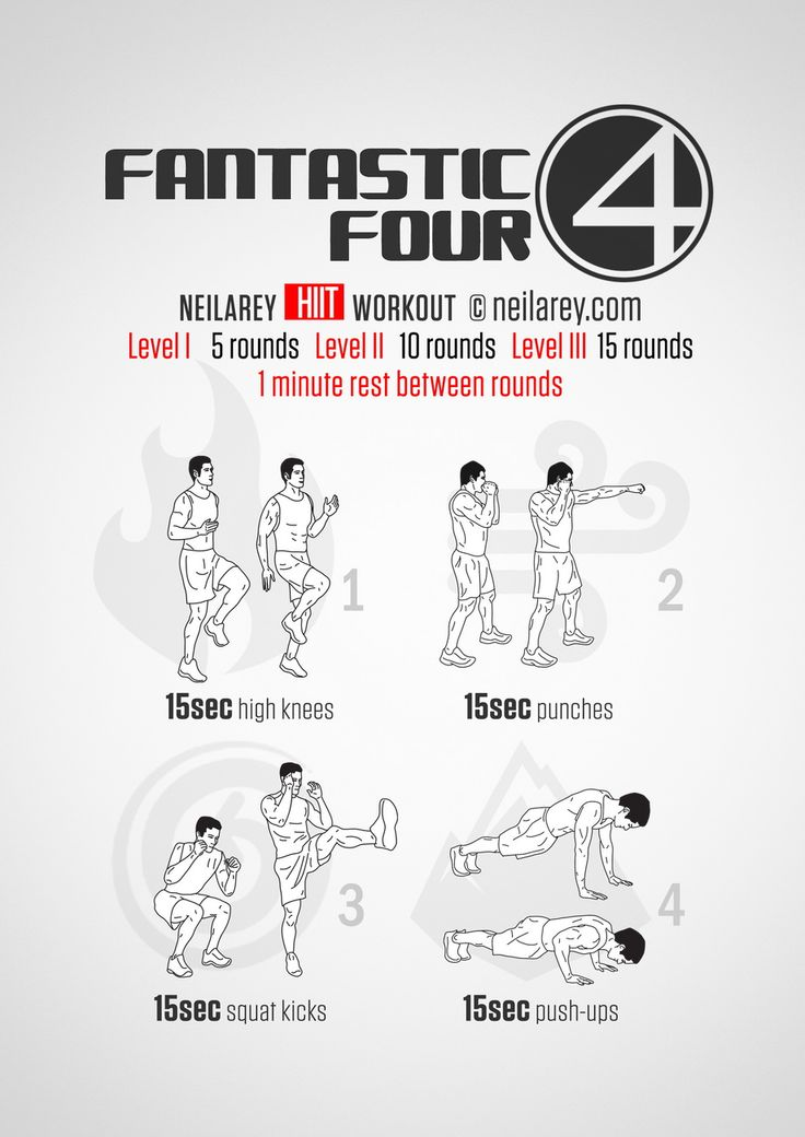 Fantastic Four fitness workout.