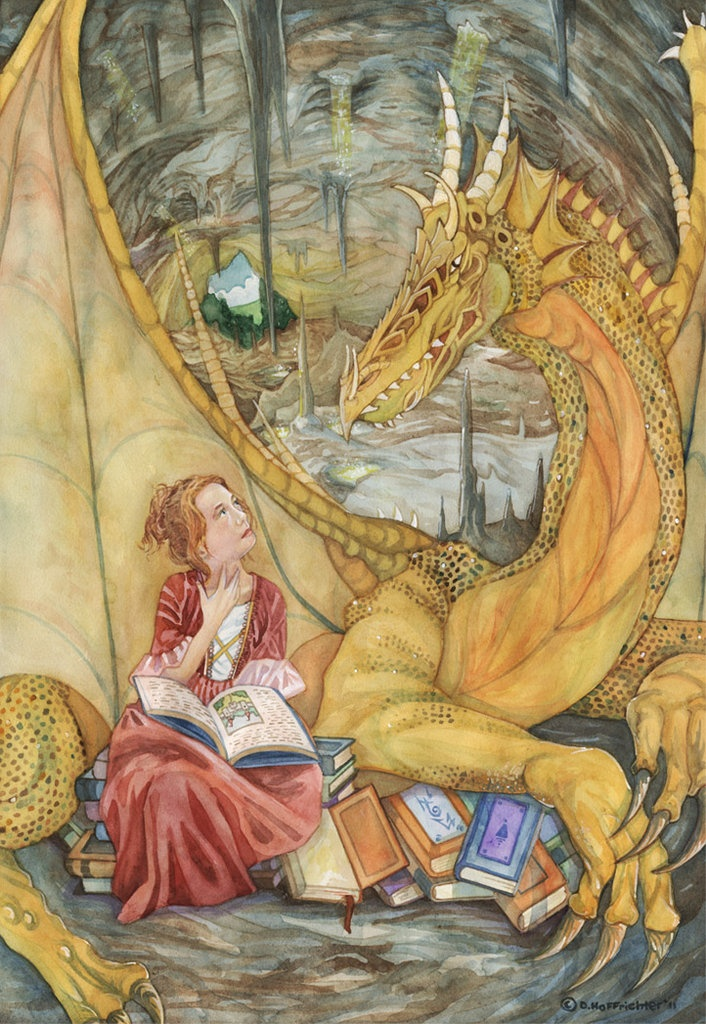 by David Hoffrichter. Maybe Fort Weyrwoman Leri and her queen dragon Holth (from Moreta)