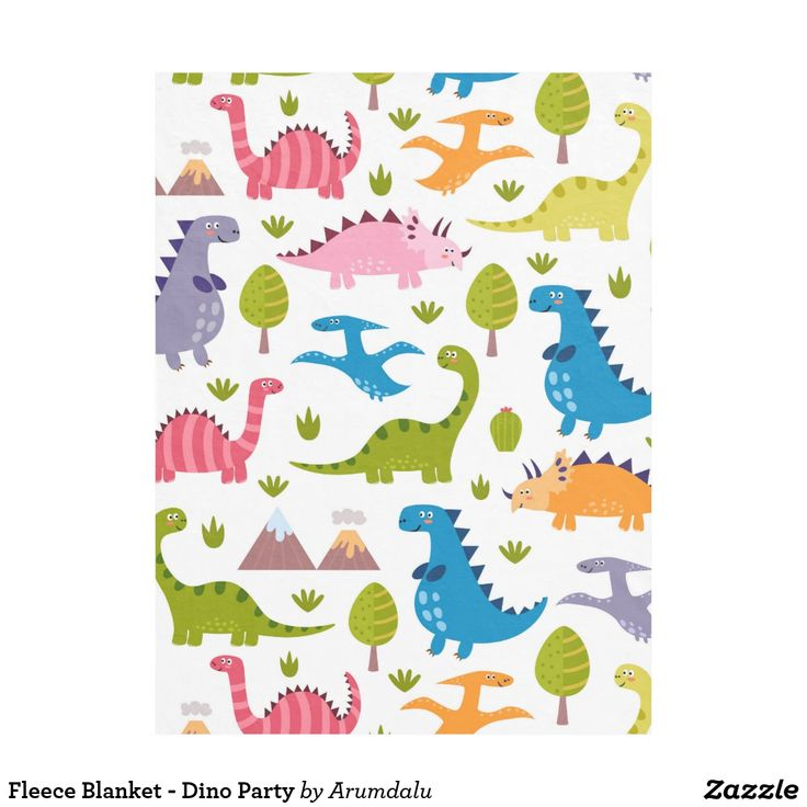 Fleece Blanket - Dino Party