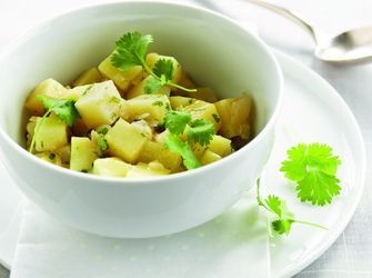 Barigoule van aardappelen, citroen en koriander