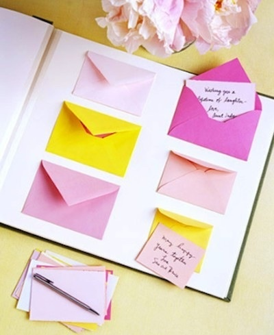 Include in scrap book to put little notes for receiver!