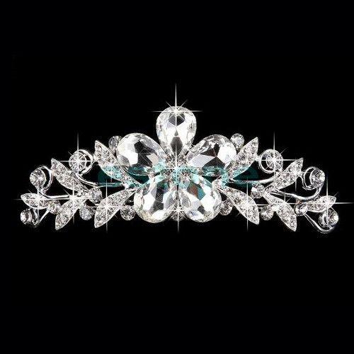 Beautiful Flower Crystal Wedding Tiara #UCHARMMEconz #shipping #Gift #free #plus