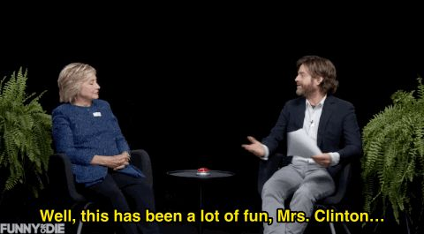 hillary clinton zach galifianakis email between two ferns #humor #hilarious #funny #lol #rofl #lmao #memes #cute