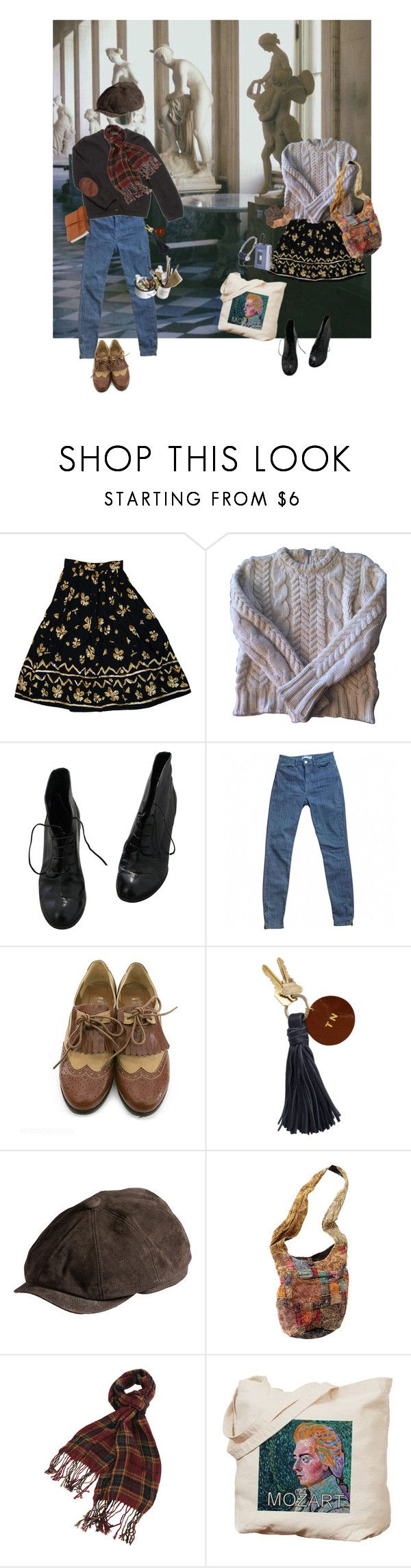 """To Run Away or Stay Today?"" by planets-n-stars ❤ liked on Polyvore featuring Claudie Pierlot, Fendi, American Apparel, Kova & T, Overland Sheepskin Co., Forever 21 and Mason's"