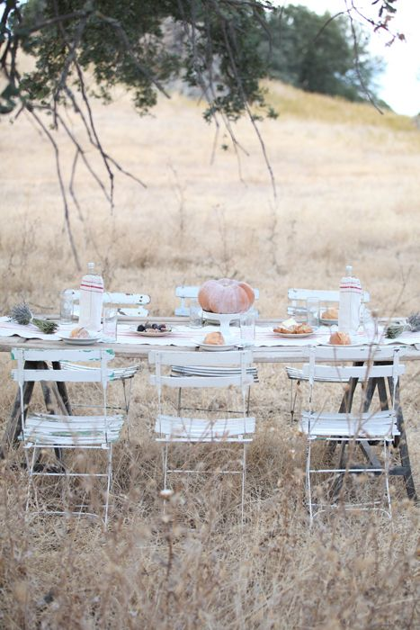 Dreamy Whites: An Autumn Inspired French Farmhouse Table, French Heirloom Pumpkins, Vintage French Kindergarten Chair