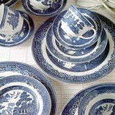 Found it at Wayfair - Willow Blue Dinnerware Set for my dad, actually. He already has a few of these pieces and has been wishing be had more.
