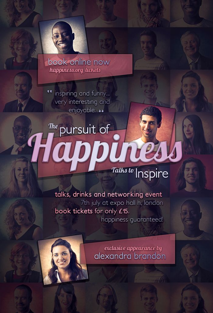 Pursuit of Happiness - Free Flyer Template by martinemes.deviantart.com on @DeviantArt