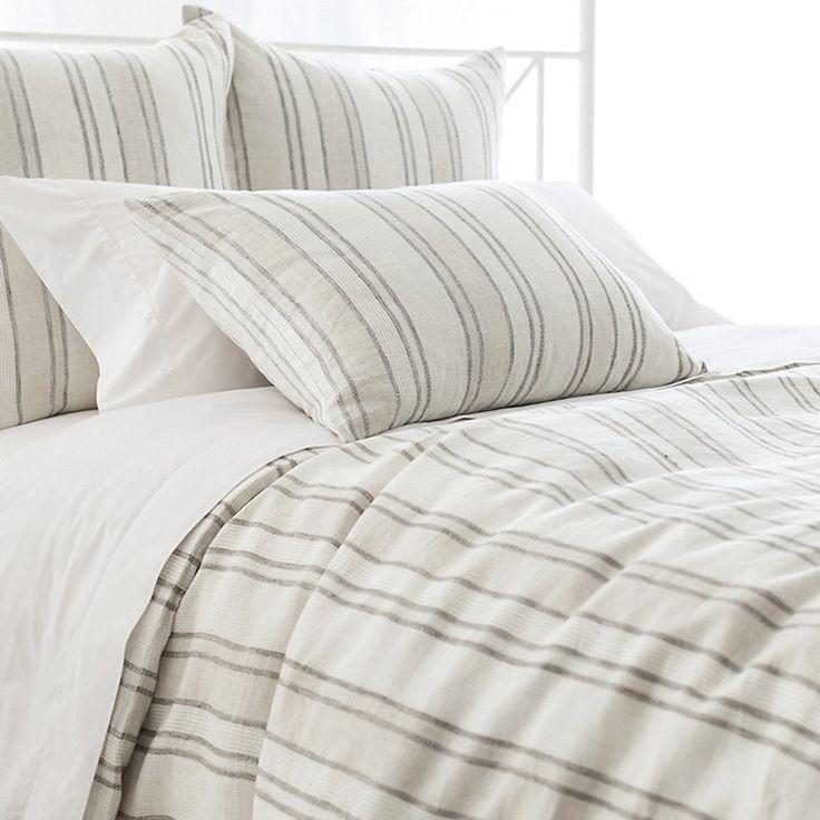 Hampton Ticking Linen Duvet & Sham By Pine Cone Hill - Duvet Covers - Bed