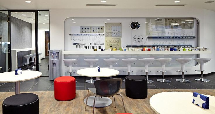 Cafeteria into the offices of JLL in Moscox, Russia