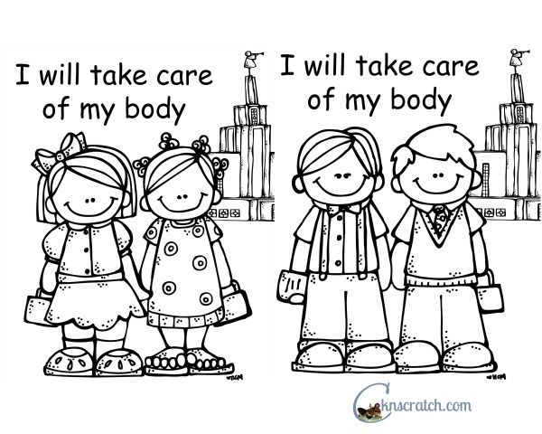 Behold Your Little Ones Lesson 10 I Will Take Care Of My Body Cute Coloring PagesNursery