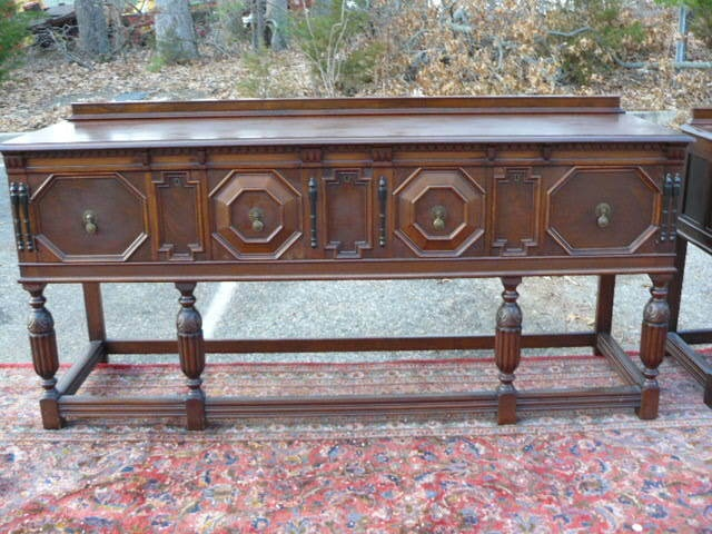 Antique Tudor Jacobean Walnut Sideboard Buffet | eBay