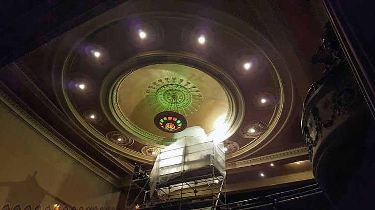 Ornamental Plaster molding,Decorative Plaster molding, Cabot Theater, Decorative plaster ceiling, plaster dome, plaster medallions, restoration