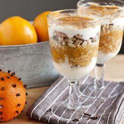 Świąteczny deser z pomarańczy z dodatkiem imbiru i cynamonu:)