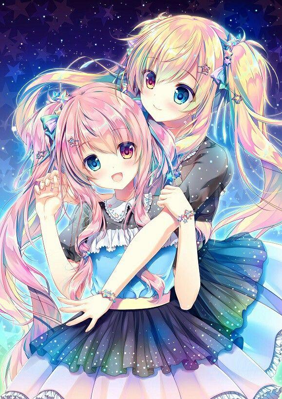 Kawaii twin   Anime, Hoạt hình, Nghệ thuật