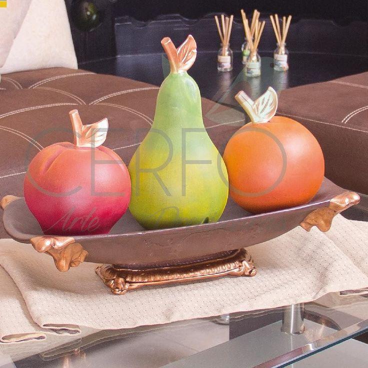 Adorno de ceramica al frio para comedor modelo frutero for Mesa cocina frutero