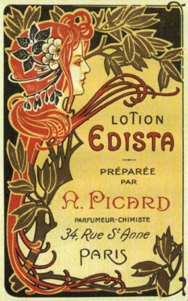 Lotion Edista  {i am such a sucker for old french posters!}
