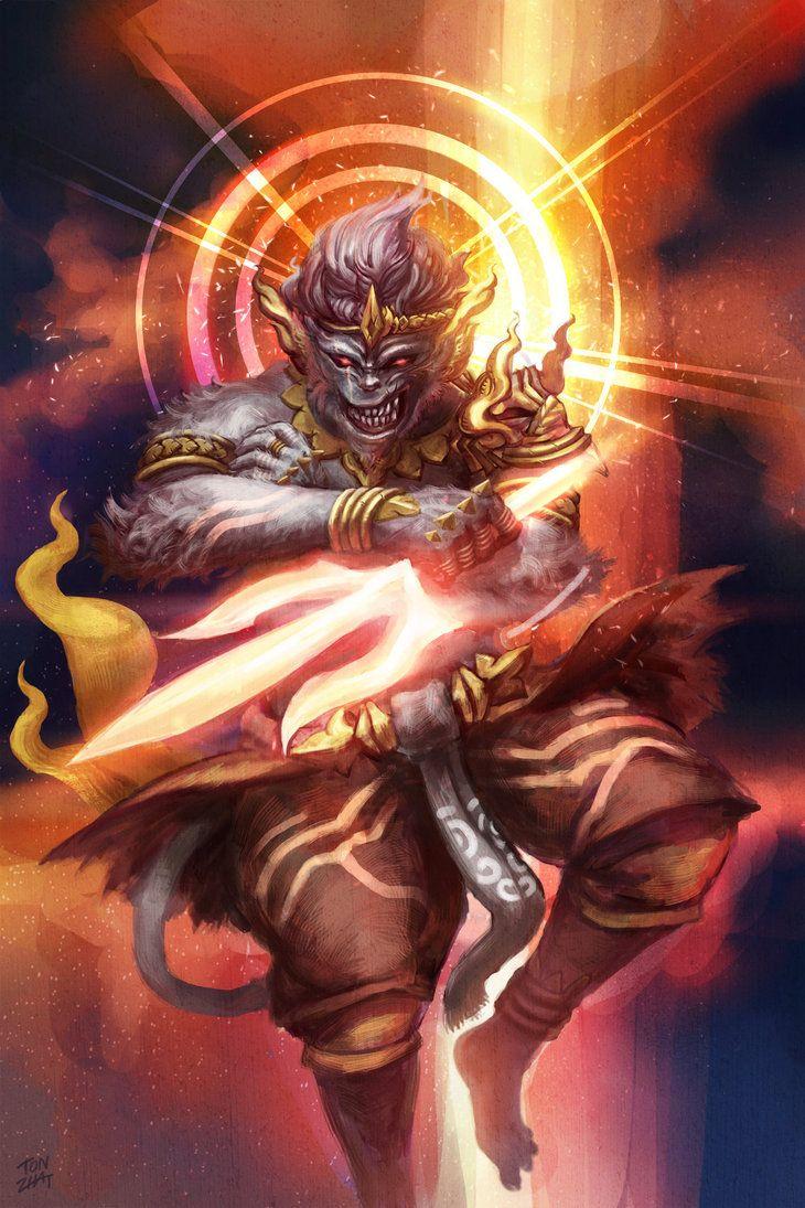 Hanuman's Anger by tonzhat on DeviantArt