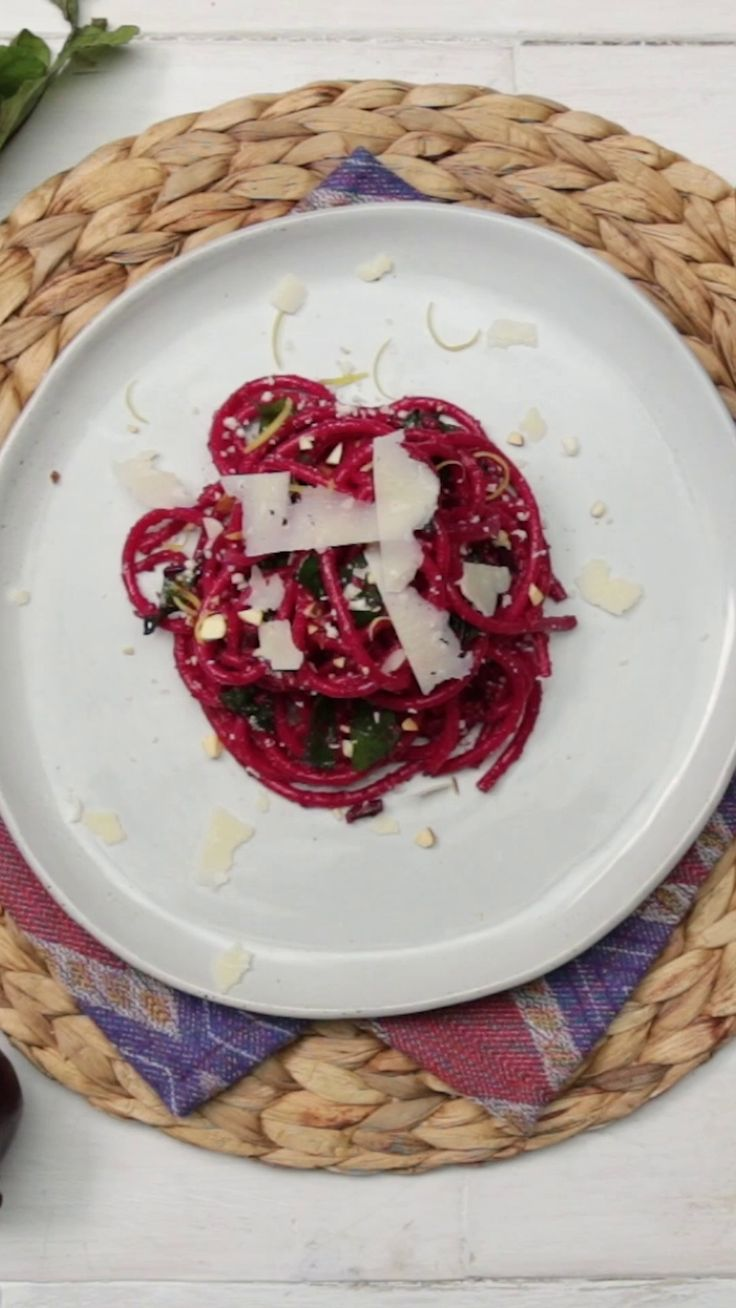 A little nutty, and full of nutrition from beets, this spaghetti is the healthier way to enjoy pasta.