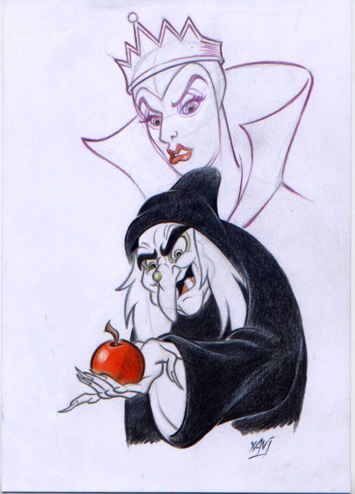 Snow White Mirror Drawing