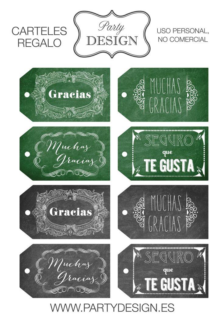 Imprimible gratis etiquetas regalo gracias