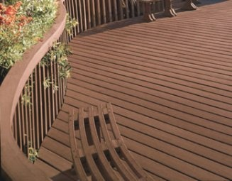 Trex deck recycled plastic made out of plastic bags and for Redwood vs composite decking