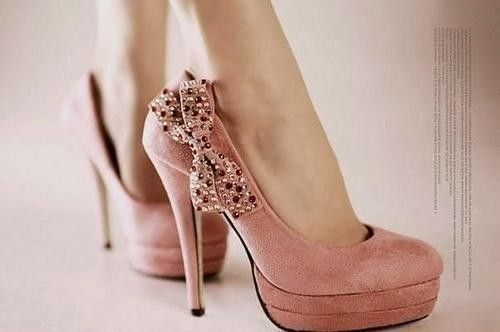 cute pink suede shoes