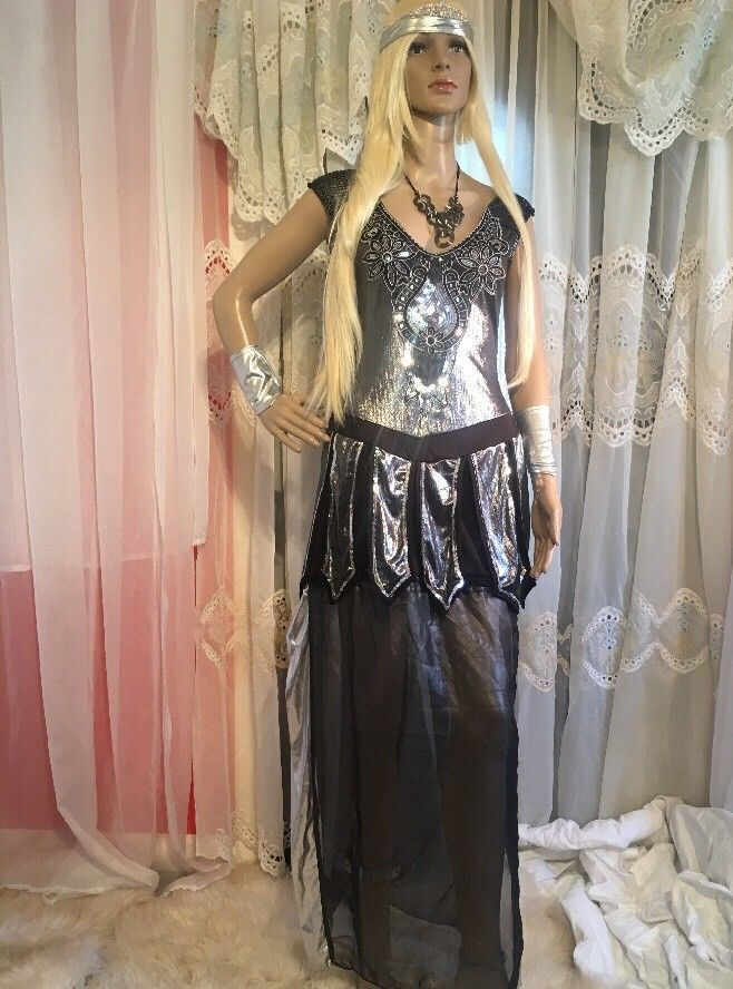 Dreamgirl Sz M Medieval Roman Warrior Queen 6 Pc One Hot Knight stretch costume!  | eBay