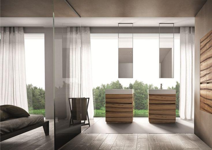 meuble salle de bain en bois 50 ides darmoires meuble sous - Meuble Vasque Salle De Bain 50 Cm Nature