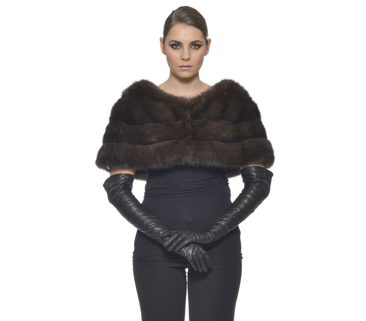 RUSSIAN SABLE SILVERY SKIN NATURAL LONG HAIR SCARF    #silvery #sable #fur #stole #cape #scarf #shawl #luxury #quality #fashion