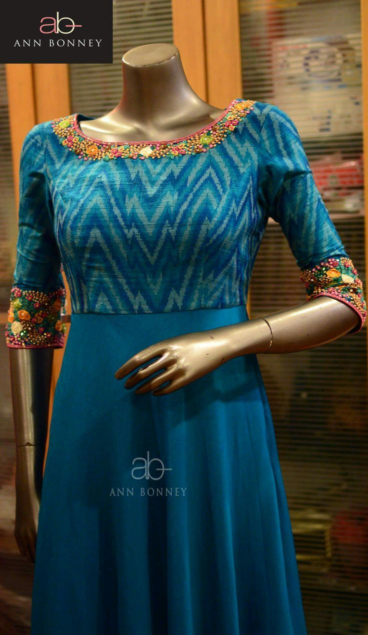 Blue anarkali idea                                                                                                                                                                                 More