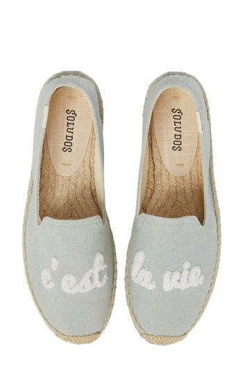 Free shipping and returns on Soludos C'est la Vie Smoking Slipper Espadrille (Women) at Nordstrom.com. Show off your nonchalant attitude with this très chic espadrille in a classic smoking-slipper silhouette that's embroidered with the French phrase 'c'est la vie.'