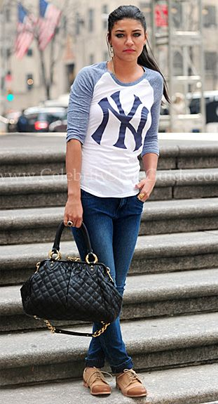 Seen on Celebrity Style Guide: Jessica Szohr was out and about in New York City Thursday April 7, 2011