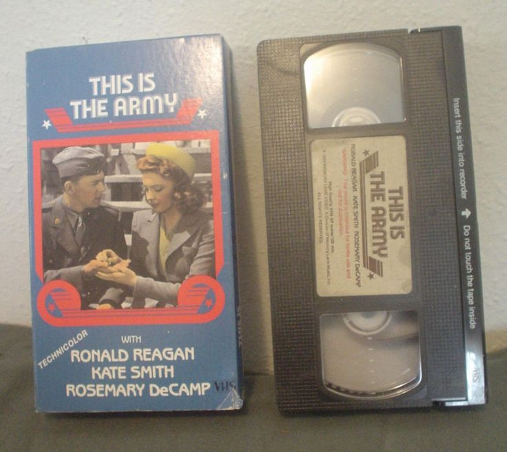 VTG This is the Army VHS Technicolor Ronald Reagan Kate Smith Rosemary DeCamp Irving Berlin Musical Tribute to American Fighting Man WWII by HerOptionsforYou on Etsy