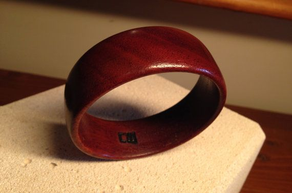 Handcrafted Unique Wood Bangle made from the by reborntimber