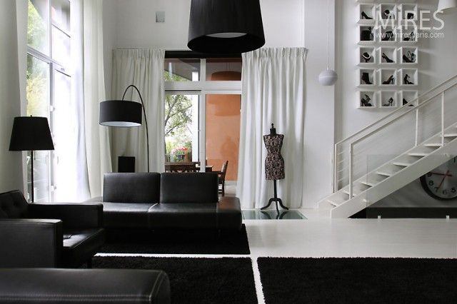 Black and White Home Decoration: Interior Design With Black And White Color Scheme ~ kepoon.com Decorating Inspiration
