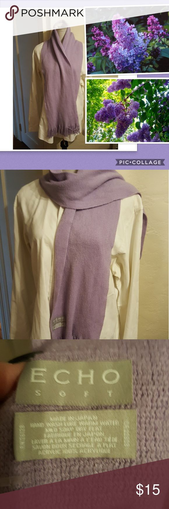 Soft Heather Echo scarf Just because the weather has turned cold or it doesn't mean we can't think of spring. Great scarf. Echo Accessories Scarves & Wraps