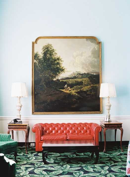 The Greenbrier Resort (photo: Cooper Carras for Matchbook Feb. 2012): Colors Combos, Living Rooms, Red, Dreams, Frames, The Greenbrier, West Virginia, Carpets, Chesterfield Sofas