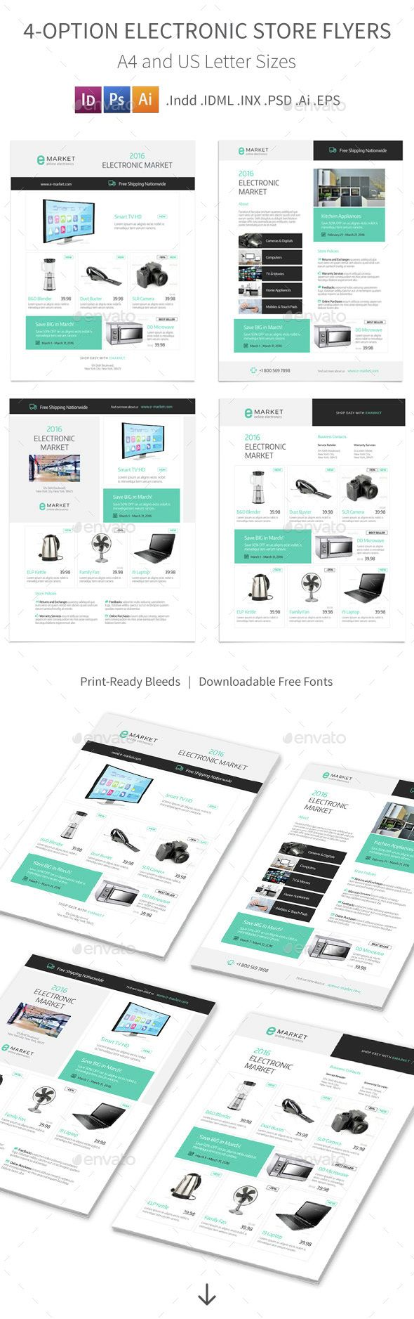 Electronic Store Flyers – 4 Options