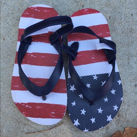 Toddler flip flops American flag toddler flip flops Shoes