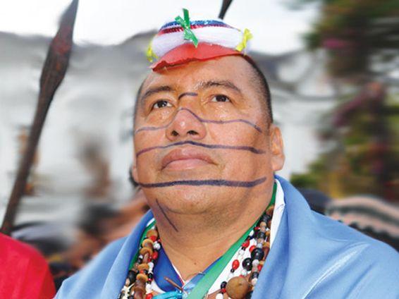 Indígena nacionalidad Tsachila (Colorado) se encuentran en la provincia de Santo Domingo de los Tsachilas - Ecuador