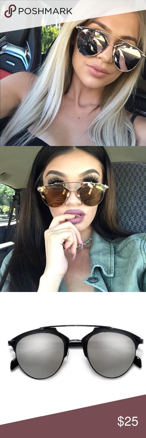 ✨Aria Sunnies - Various Colors✨ 💵Price is firm unless bundled    2+ 20% Off 💌Item Ship in 2-3 Days 📍No Trades UVA & UVB Protection  ✨ Sporty Super Chic Design ✨ Nickel Finish Frame / Light Weight Plastic Temples ✨ Polycarbonate UV400 Lens ✨ Adjustable Silicone Nose Pads  ✨ Microfiber Bag Included Measurements : 52mm(W) 47mm(H) 18mm(BR) 144mm Total Frame Accessories Sunglasses