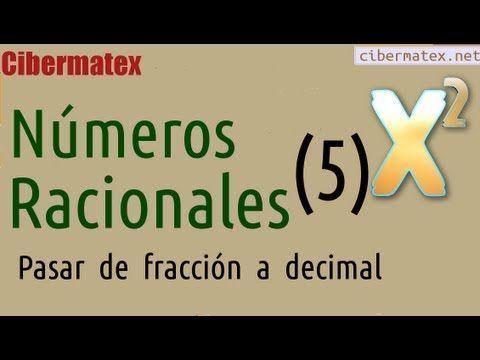Pasar de fracción a número decimal