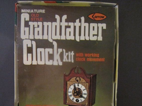 Vintage Clock Grandfather Clock Kit Dollhouse by PriorMemories, $62.50