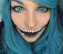 Inspiring picture cheshire cat, alice in wonderland, makeup. Resolution: 500x667 px. Find the picture to your taste!