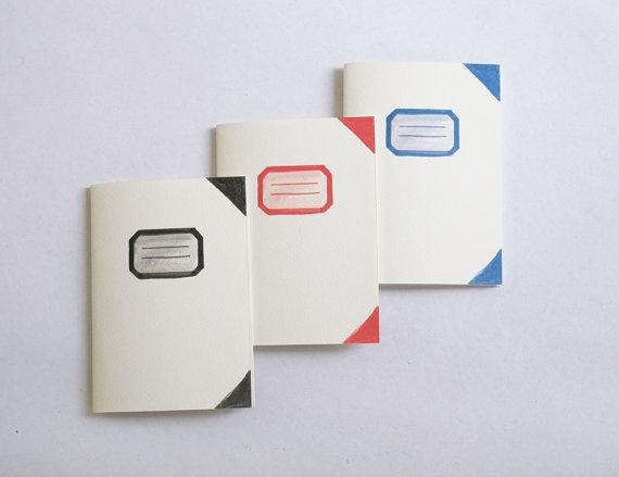Fake old school notebooks  Set of 3 by 10antemeridiem on Etsy, $14.00