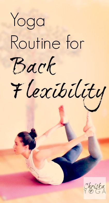Short yoga routine for back flexibility!