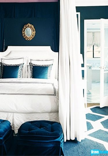 20 Marvelous Navy Blue Bedroom Ideas Midnight Blue Wall