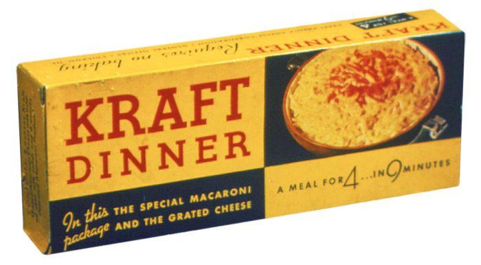 Semaine du macaroni fromage: emballage de Kraft dinner